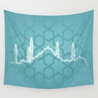 istanbul Wall Tapestries featuring Istanbul by Emir Simsek
