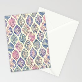 Patterned & Painted Floral Ogee in Vintage Tones Stationery Cards