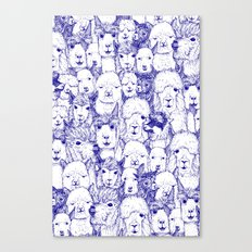 just alpacas blue white Canvas Print