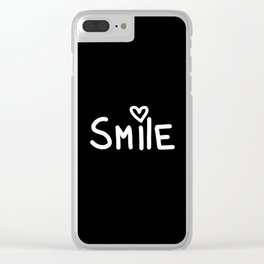 Smile Black Clear iPhone Case