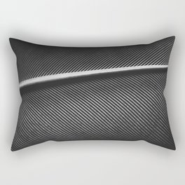 Elegant silver pigeon feather texture Rectangular Pillow