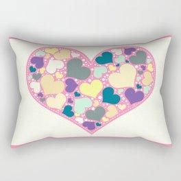 Hearts and Dots Rectangular Pillow
