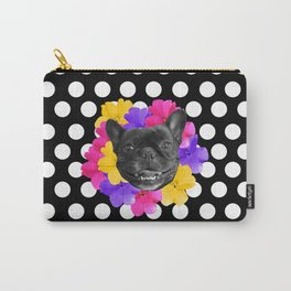 Pansy Frenchie Carry-All Pouch
