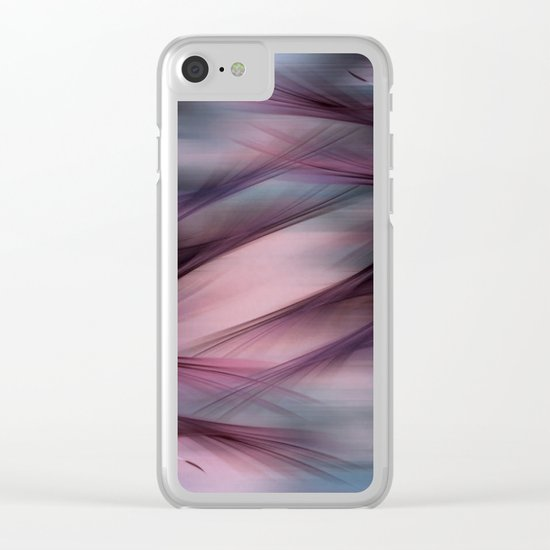 Soft Hazy Mauve Abstract Clear iPhone Case