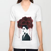 kpop V-neck T-shirts featuring Bloody Kai by Ahri Tao