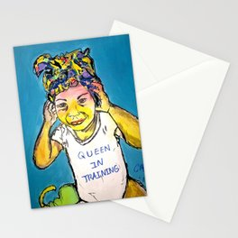 Black Queen in Training Stationery Cards