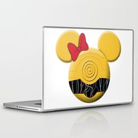 c3po Laptop & iPad Skins featuring C3PO Mouse  by Miranda Copeland