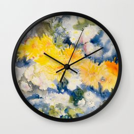 Yellow and Blue Wall Clock