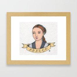 Catherine of Aragon Framed Art Print