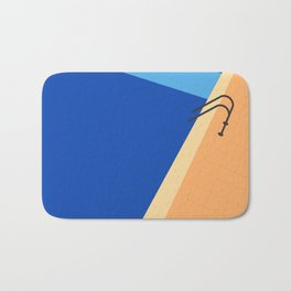 Swimming Pool with Blue Water Bath Mat