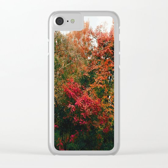 Autumn in the Garden Clear iPhone Case