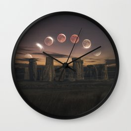 Blood Moon Eclipse, UK Wall Clock