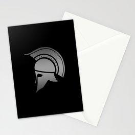 Ancient Greek Spartan Helmet Stationery Cards