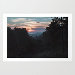Sunrise Over Athens, Ohio Art Print