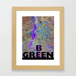 Be Green Framed Art Print