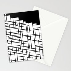 Map Black Boarder Stationery Cards