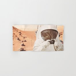 Astronaut Cat on Mars Hand & Bath Towel