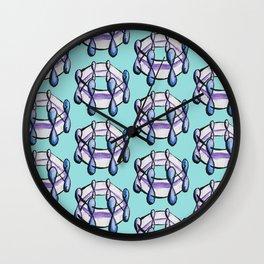 Benzene Molecule Organic Chemistry Pattern Wall Clock