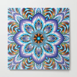 Fantasy flower in purple and blue Metal Print