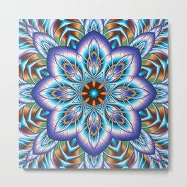 Fantasy flower in purple and blue Metal Print