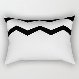 Geometric abstract - zigzag, gray, blak and white. Rectangular Pillow