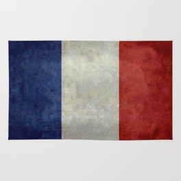 Flag of France, vintage retro style Rug