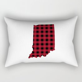 Indiana - Buffalo Plaid Rectangular Pillow