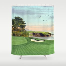 Pebble Beach Golf Course 5th Hole Shower Curtain