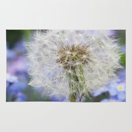 Dandelion in blue and purple Flowers Rug