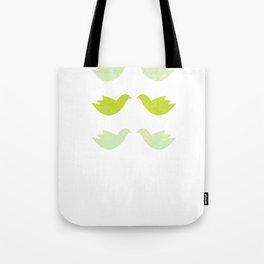 green love birds Tote Bag