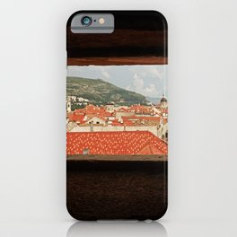 Looking through the eye of Dubrovnik iPhone Case