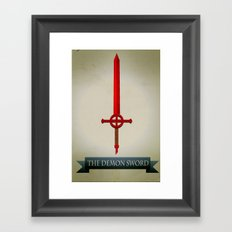 Demon Sword Framed Art Print