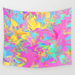 pink oil slick Wall Tapestry