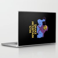 gym Laptop & iPad Skins featuring snake mountain gym by Louis Roskosch