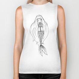Mermaid Skeleton Biker Tank