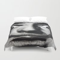 rock Duvet Covers featuring I am drugs ( Salvador Dali ) by Black Neon