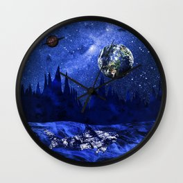 A megalodon on the blue planet Wall Clock