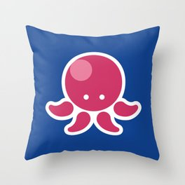 Adorable Cartoon Octopus Professionally Designed Throw Pillow