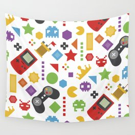 video game pattern Wall Tapestry