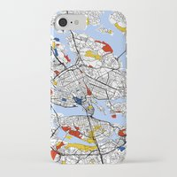 stockholm iPhone & iPod Cases featuring Stockholm by Mondrian Maps