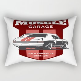 Muscle Car Garage Rectangular Pillow