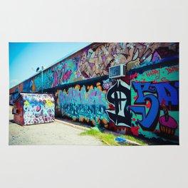 Graffiti Art Alley Rug