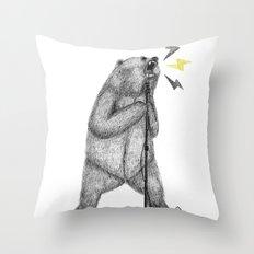 rocker bear Throw Pillow