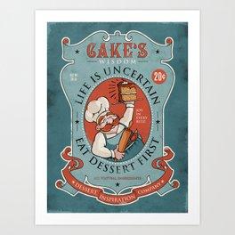 Dessert First Art Print