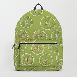Lime Oranges Pattern Backpack