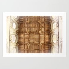 Wooden church ceiling  Art Print