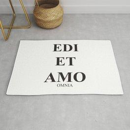 Latim words, Edi et Amo - Love and hate - Omnia Rug