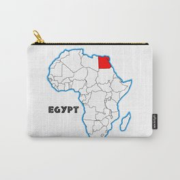 Egypt Map Carry-All Pouch