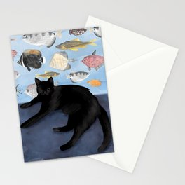 Ivy the Black Cat & The Fish Tank Stationery Cards