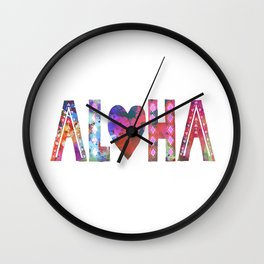 ALOHA - Style A Wall Clock